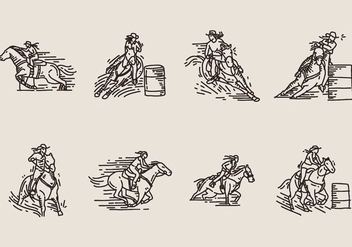 Barrel Racing Icon - vector gratuit #403989