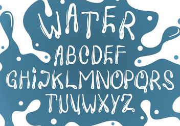 White Water Font Vector Set - Free vector #404019