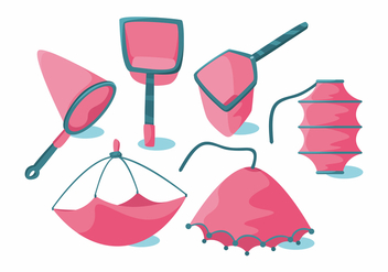 Fishing Net Vector Set - бесплатный vector #404029