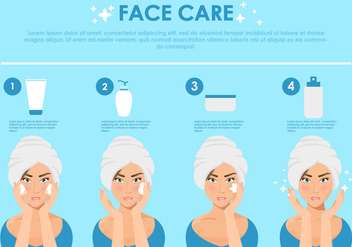 Face Care Step Illustration - Kostenloses vector #404129