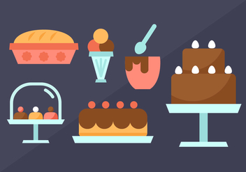 Free Pastry Elements Vector - vector #404149 gratis