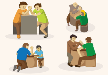 Free Arm Wrestling Vector - Free vector #404469