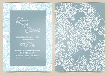 Vector Wedding Invitation - Free vector #404659