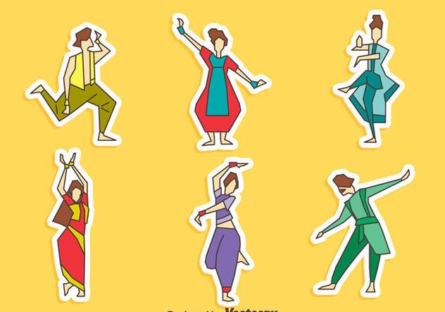 Bollywood Dance Collection Vector - vector gratuit(e) #405059