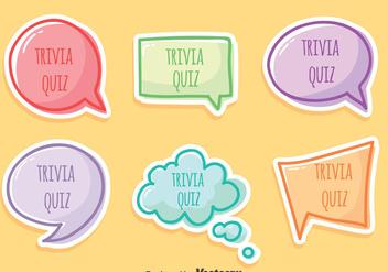 Trivia Quiz Vector Set - Free vector #405069