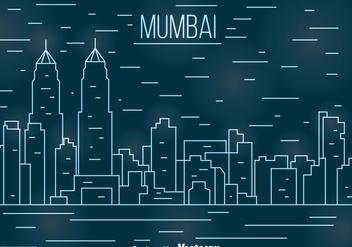 Mumbai Line Cityscape Vector - Kostenloses vector #405109