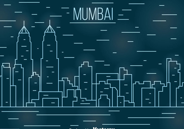 Mumbai Line Cityscape Vector - vector gratuit(e) #405109
