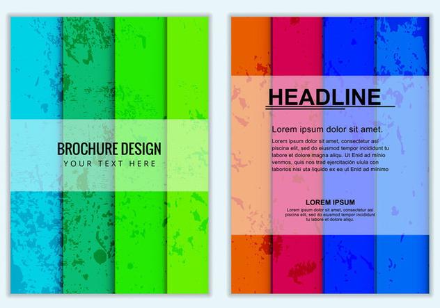 Free Vector Colorful Business Brochure - бесплатный vector #405159