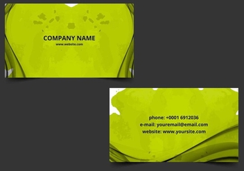 Free Vector Business Card - vector gratuit #405209
