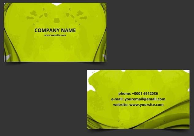 Free Vector Business Card - бесплатный vector #405209