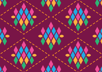 Traditional Songket - vector gratuit #405249