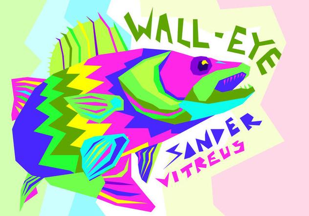 Free Walleye Vector Illustration - бесплатный vector #405399