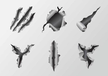 Scratch Metal Tear Vectors - vector gratuit #405409