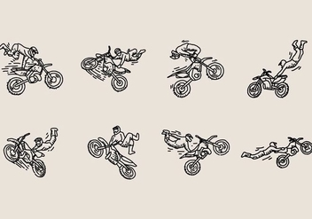 Motocross Freestyle Icon - vector gratuit #405539
