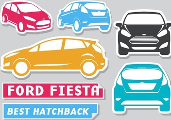 Free Ford Fiesta Stickers Vector - Free vector #405579
