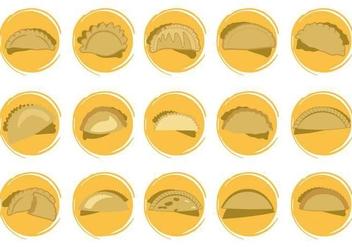 Free Empanadas Icons Shapes Vector - Free vector #405589