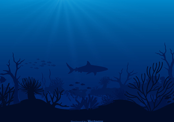 Free Vector Seabed Illustration - Free vector #405699