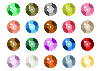 Free Sequin Icon Vector - Free vector #405789