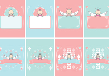 Baby Card Invitation - Free vector #405829