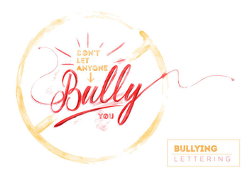 Free Bullying Watercolor Vector - Free vector #405949