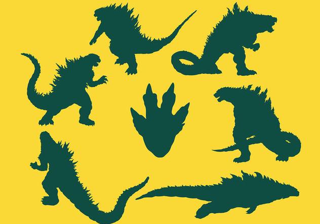 Free Godzilla Icons Vector - Free vector #406009