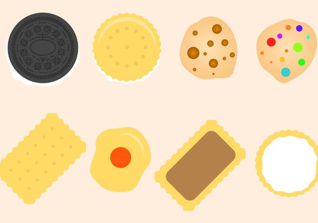 Free Flat Cookies Vector - Free vector #406079