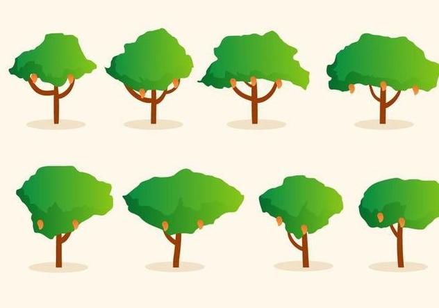Free Mango Tree Vector - Free vector #406109