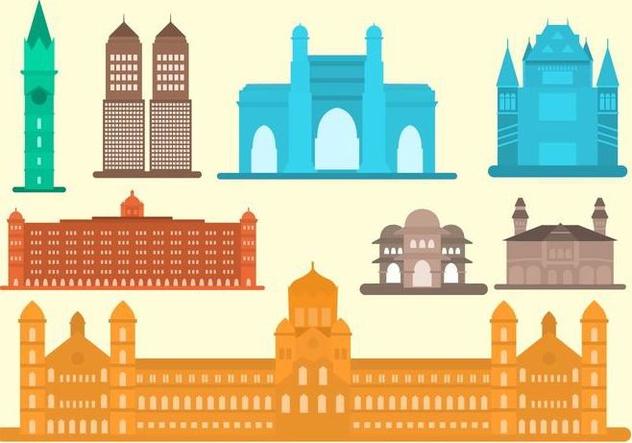 Free Flat Mumbai Landmark Vector - Free vector #406159