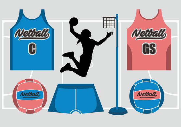 Netball Vector Set - Free vector #406179