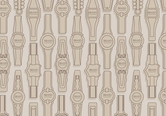 Cigar Label Pattern Vector - vector gratuit(e) #406259