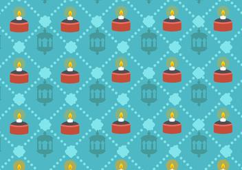 Hari Raya Pelita Lamp Vector Pattern - Free vector #406449