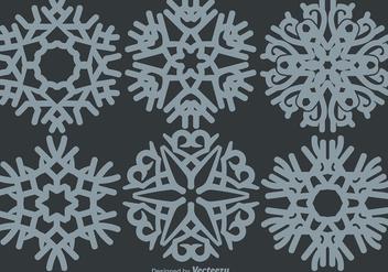 Classic Snowflakes Set - vector gratuit #406589