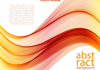 Vector Orange Wave Background - Free vector #406609