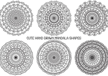 Cute Hand Drawn Mandala Shape Collection - Free vector #406679