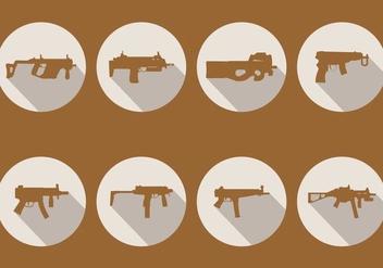 Sub Machine Gun Vectors - vector gratuit #406789