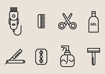 Hair Clippers Icons - vector #406839 gratis