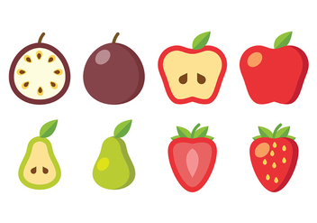 Sliced Fruit Vector Icons - Free vector #406869