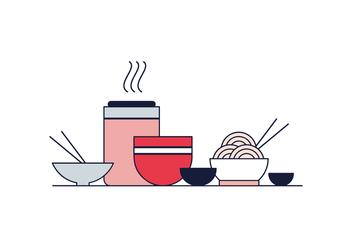 Free Oriental Food Vector - Free vector #406919