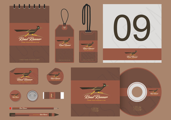 Roadrunner Illustration Corporate Identity Templates - Free vector #407039