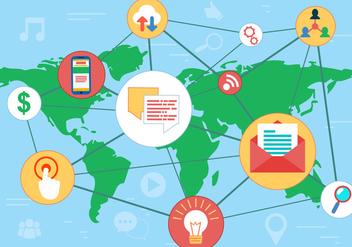 Free Social Media Networks Vector - Kostenloses vector #407169