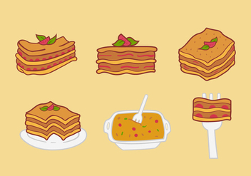Lasagna food vector illustration - vector #407179 gratis