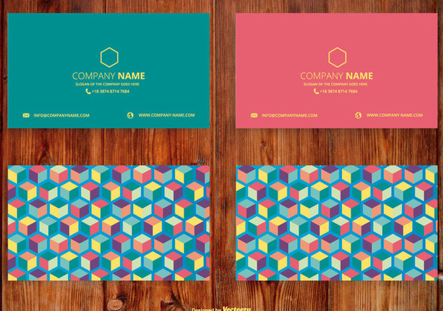 Abstract Cubes Name Card Set - бесплатный vector #407299