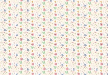 Floral Pastel Pattern - Kostenloses vector #407389
