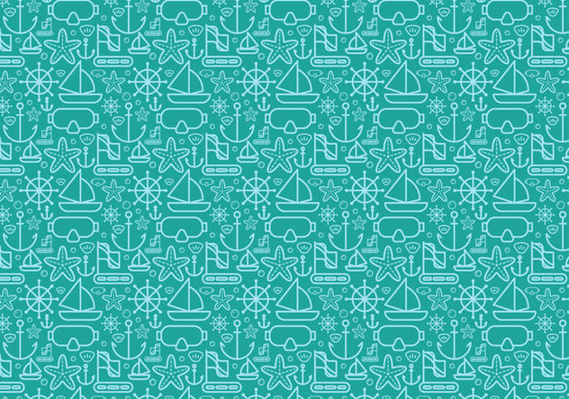 Free Diving Elements Vector - Free vector #407649