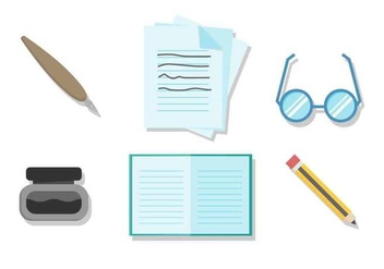 Free Writing Tools Vector - vector #407679 gratis