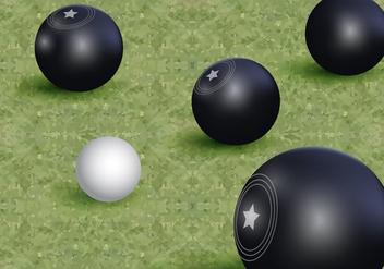 Lawn Bowls Vector - Free vector #407729