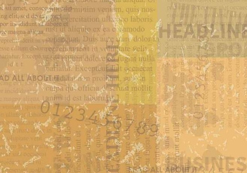 Vintage Old Newspaper Background - бесплатный vector #407749