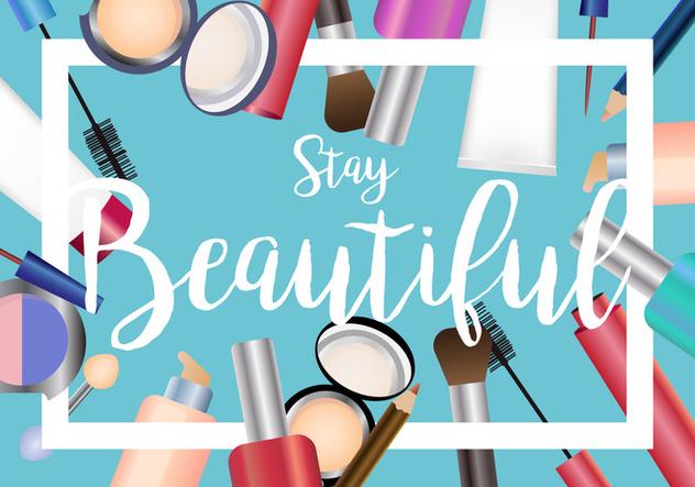Beauty Set Of Make Up Vector - vector #407769 gratis