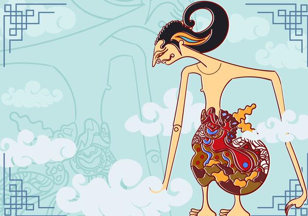 Wayang Arjuna Illustration - vector #407779 gratis