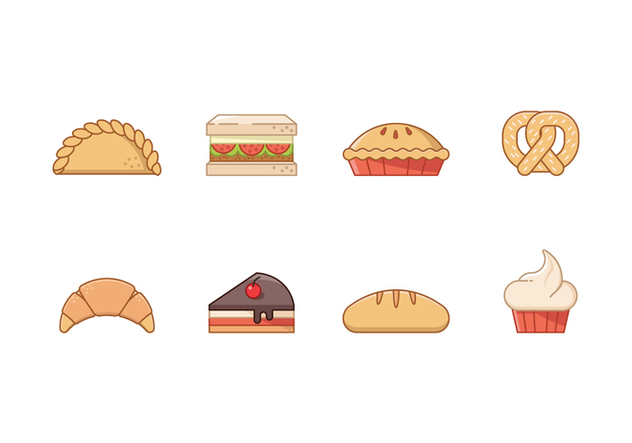 Free Bakery Icons - vector #407799 gratis